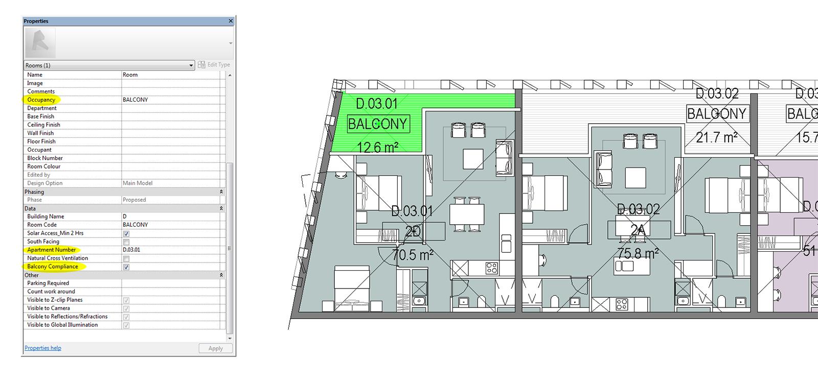 Min balcony size parametricmonkey for Balcony dimensions